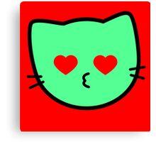 Kawaii Kitty Cats 2048 - tile 1024 Canvas Print
