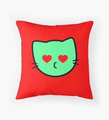 Kawaii Kitty Cats 2048 - tile 1024 Throw Pillow
