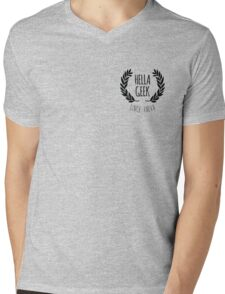Hella Geek Mens V-Neck T-Shirt