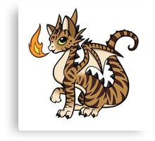 Cat-dragon Canvas Print