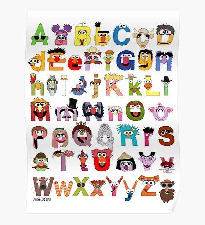 Sesame Street Alphabet Poster