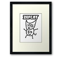 Zef Cat Framed Print