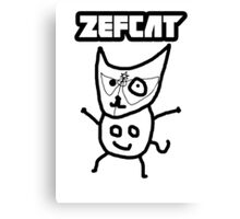 Zef Cat Canvas Print