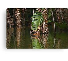Jungle leaves Canvas Print