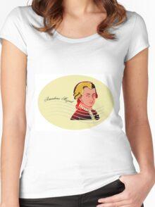 Amadeus Mozart Women's Fitted Scoop T-Shirt