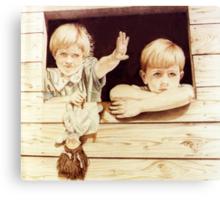 Tree House Children Canvas Print