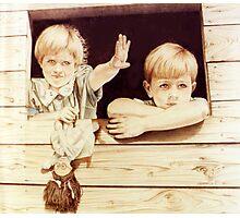 Tree House Children Photographic Print
