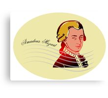 Amadeus Mozart Canvas Print