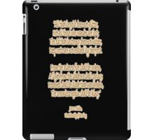 J.R.R, Tolkien, The Fellowship of the Ring, All that is gold does not glitter, iPad Case/Skin