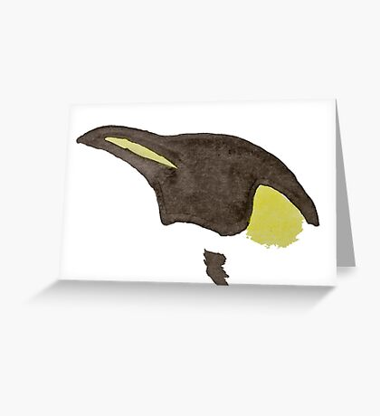 Emperor Penguin - Watercolor Greeting Card