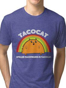 Tacocat spelled backwards is Tacocat Tri-blend T-Shirt