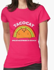 Tacocat spelled backwards is Tacocat Womens Fitted T-Shirt