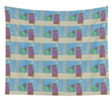 """The dogolosaurus monster [""""Monsters are real.""""] Wall Tapestry"""