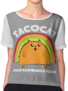 Tacocat spelled backwards is Tacocat Chiffon Top