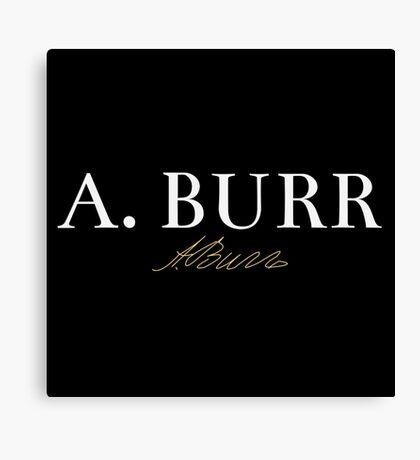 A. Burr Canvas Print