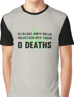 Legalize Weed Cool Funny Smoking Joint Stats Graphic T-Shirt