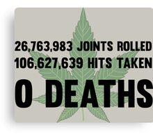 Legalize Weed Cool Funny Smoking Joint Stats Canvas Print
