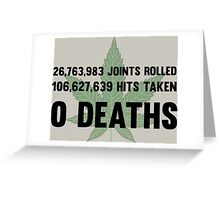 Legalize Weed Cool Funny Smoking Joint Stats Greeting Card