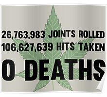 Legalize Weed Cool Funny Smoking Joint Stats Poster
