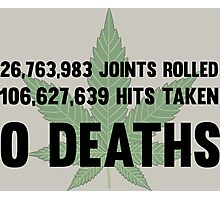 Legalize Weed Cool Funny Smoking Joint Stats Photographic Print