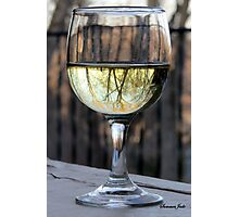 Reflections of Winter in a Glass of Wine Photographic Print