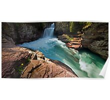 St Mary Falls, Glacier National Park Poster