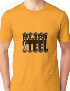 My Son Is Made Of Steel - Scoliosis Awareness Unisex T-Shirt