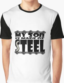 My Son Is Made Of Steel - Scoliosis Awareness Graphic T-Shirt