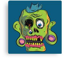 Zombie Skull Canvas Print
