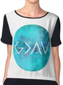 God Is Greater Than the Highs and Lows Chiffon Top