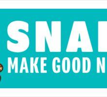 Snakes Make Good Neighbors Sticker