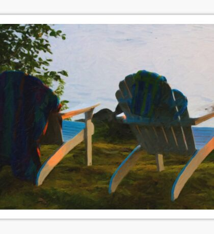Adirondacks on Lake Winnipesaukee Sticker