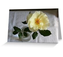 Cottage rose Greeting Card