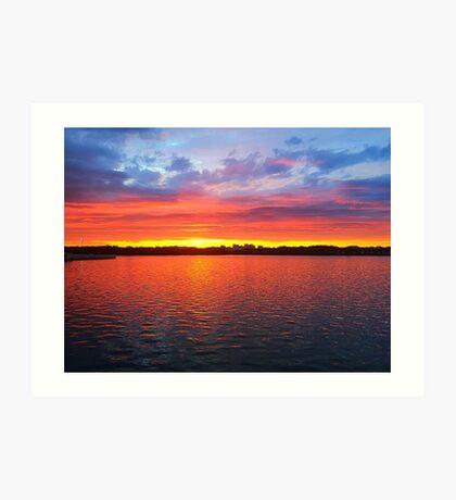 Sunset in Washington, DC Art Print