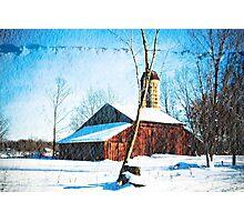 Wintertime Ohio Barn Photographic Print