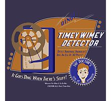 Timey Wimey Machine - Doctor Approved! (Orange) Photographic Print