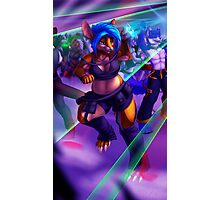 Grooving to the Glow Photographic Print