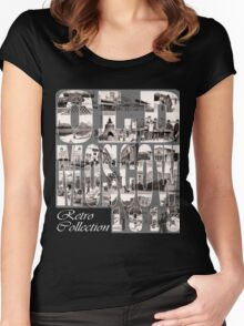 Old Moscow Photo Collage Women's Fitted Scoop T-Shirt