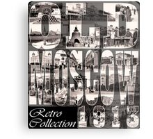 Old Moscow Photo Collage Metal Print