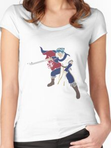 Pixel Silhouette: Marth Women's Fitted Scoop T-Shirt