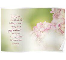 God of Comfort - Sympathy Card Poster