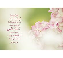 God of Comfort - Sympathy Card Photographic Print