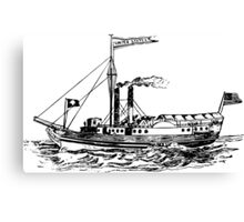 Steamship Canvas Print