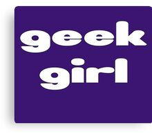 Geek Girl - Women's Black T-Shirt Canvas Print
