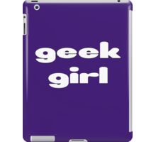Geek Girl - Women's Black T-Shirt iPad Case/Skin