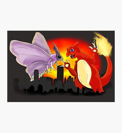 Venomothra Vs. Charzilla Photographic Print