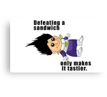 Defeating a Sandwich. Canvas Print