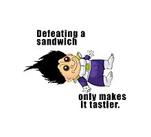 Defeating a Sandwich. Photographic Print
