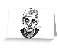 Josh Dun Sketch Greeting Card