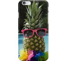 Pineapple by the pool iPhone Case/Skin